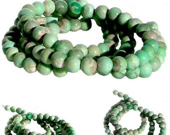 MERZIEs 10 UTAH VARISCITE 8mm yummy mint green round genuine natural stone beads varisite varicite - Combined Shipping