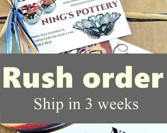 RUSH ORDER upgrade, ship within 3 weeks