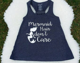Mermaid Hair Don't Care Tank Top - kids