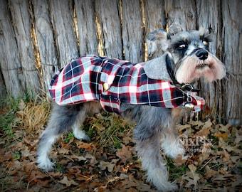 Plaid Small Dog Coat