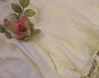 Vintage White Cotton Slip / Skirt From Way Back