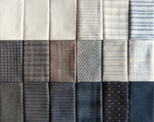 Japanese Taupe fabrics - 18 neutral fat eighths
