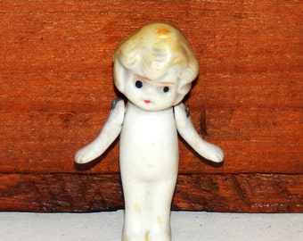 Vintage Bisque Cupie Girl with Swing Arms Frozen Charlotte Figurine marked Japan