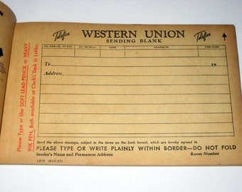 Vintage Western Union Telegram Blanks - Great Paper for Crafting