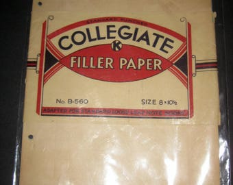 12 Pages of Vintage Collegiate Filler Paper for Crafting, Scrapbooking, etc.