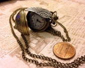 Harry Potter Inspired Snitch Watch  Necklace