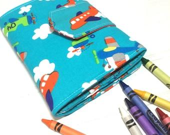 Crayon Wallet - Hip Trendy Travel - Airplanes