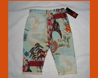 ON SALE 40% OFF Pagoda - Dragon -  Japanese Baby Clothing - Cherry Blossom - Baby Pants - Girls Pants - Boys Pants - Conscious Children's -
