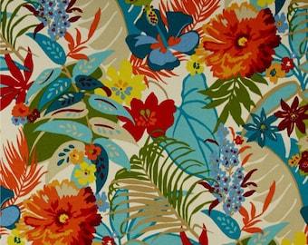 orange floral shower curtain. Bold Colorful Shower Curtain  Blue Orange Tropical Bathroom Decor Botanical Bird White Cottage Style