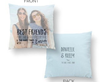 Best Friend Long Distance gift, Unique Pillow Gift, Unique Christmas Pillow Gift, Unique Best Friend Gift / H-Q94-PW QQ5