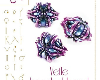 Beading tutorial / pattern Vetle beaded bead Beading instruction in PDF – for personal use only