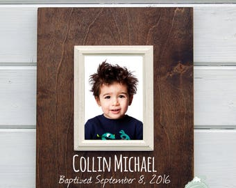 Personalized Special Day Frame, 8X10 Frame Customized for Baptism, Baby, Dedication, Confirmation, Quinceañera, or Sweet Sixteen