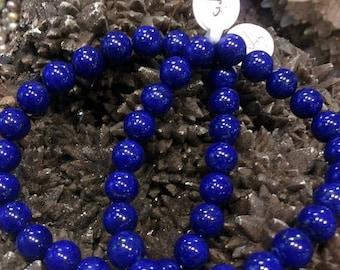 50% Mega Sale 8mm Lapis Lazuli Gemstone Bracelet - All Natural