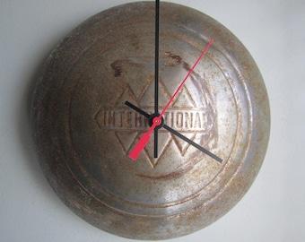 Vintage International Harvester Hubcap Clock no.2507