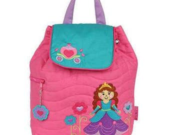 Personalized Stephen Joseph Backpack for Toddlers and Kids - Princess - Pink Bag for Girls - Ships in 48 hours