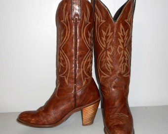 Womens Size 7.5 M Cowboy Boots Kenny Rogers Brand Western Cowgirl Fashion Vintage