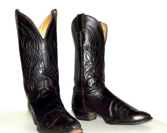 ON SALE Altered Justin brand  Cowboy boots size 9 d or cowgirl size 10.5 - western fashion