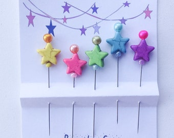 Star  Quilting Pins - Gift for Quilter - Star Power - Beaded Sewing Pins- Pincushion  Pins - Girlfriend Gift - Secret Sister Gift