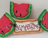 Summertime Shelf Sitter, Wood Watermelon Shelf Sitter,Unique Home Decor,Wood Shelf Sitters,Birthday Gifts,Watermelon Decor,Country Decor