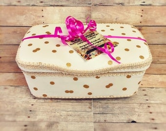 Gold polka dots baby wipes case gold diaper bag best gold baby nursery gold baby gift mini gold polka dots baby gifts metallic diaper bag