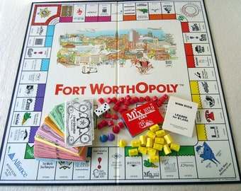 Vintage 1992 Fort WorthOpoly Game The Monopoly for Fort Worth Texas