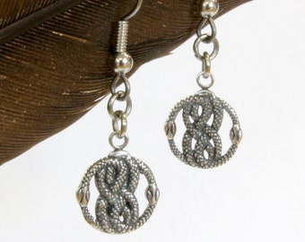 Tiny AURYN Earrings in Solid Sterling Silver Neverending Story  505