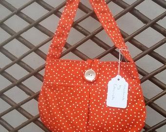 Girls spotty bags, green, orange, blue