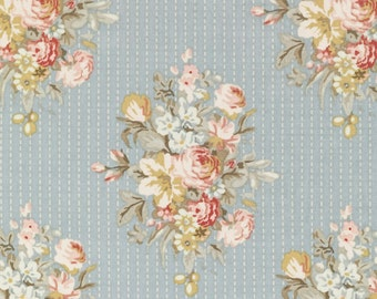 Tilda Fabric, Tilda Sofia Blue Fat Quarter, Tiny Treasures Collection, Tilda Fabric 480787, Fat Quarter, 50 cm x 55 cm