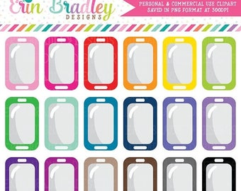 50% OFF SALE Cell Phone Clipart Personal & Commercial Use Phone Clip Art Graphics