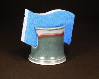 Sponge Holder - Spongeholder - Dish Sponge Holder - Sink Organizer - Pottery Sponge Dish - Kitchen Holder - Letter Holder - In Stock