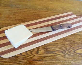 Cheese Board, French Bread Board, Cutting Board, Cheese Paddle, Chefs Paddle, Gourmet Kitchen, Oak Cutting Board, Handmade Cheese Paddle