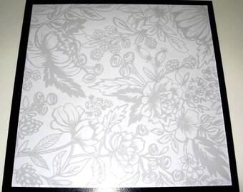 Grays .. Magnet Dry Erase Steel Memo Board / housewarming gift / wall decor / desk / office decor / organization / flowers / gray