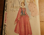 Vintage 1950s Simplicity 4071 Angel or Princess Pattern Size Medium FF