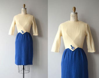 Right Angles dress | vintage 1960s dress | 60s wool dress