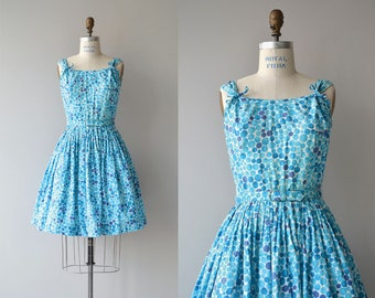 Tiny Bubbles dress | vintage 1950s dress | cotton 50s day dress