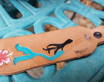Mermaid  tail keychain, Ocean Siren tail keychain,  Siren of the Sea tail keychain, I am a Mermaid Keychain, Mermaid leather keychain