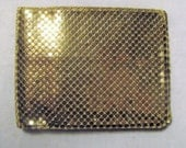 Vintage Whiting And Davis Wallet Vintage Gold Mesh Wallet With Snap Change Compartment Womens Accessories 1970s 70s