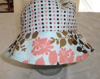 Bucket Hat - Reversible Bucket Hat - Cotton Hat - Women's Hat - Sun Hat - Adult Bucket Hat
