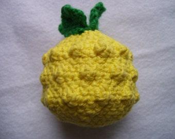 Amigurumi Pineapple Squeaky Dog Toy