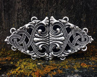 Rumpelstiltskin's Pewter Cloak Clasp | Medieval Jewelry | Cloak Clasp | SCA | Handcrafted Jewelry | by Treasure Cast Pewter