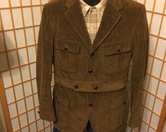 VTG 60s brown wide wale corduroy jacket mens by McGregor men's size 38 R