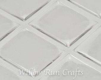 25 Pack 20 x 18 mm Scrabble Size Clear Epoxy Domes Stickers  (01-05-210)