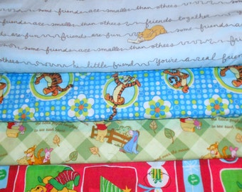 POOH #2 Fabrics, Sold INDIVIDUALLY not as a group, by the Half Yard