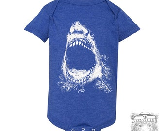 Baby infant One-Piece SHARK Eco screen printed (+ Color Options) - FREE Shipping