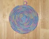 Round Crocheted Cotton Thread Potholder