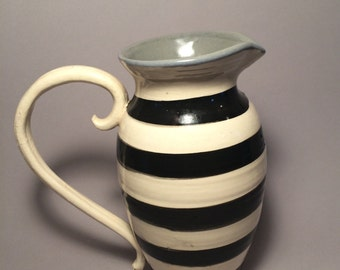 Striped blues pitcher