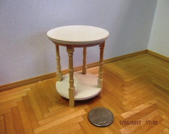Miniature Unfinished Round Side Table