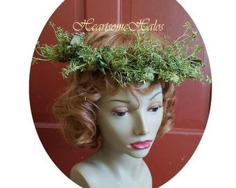 Adult head wreath harvest hops beer maiden grain natural fairy fairie nymph Octoberfest