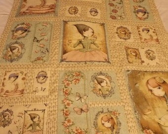 Santoro Mirabelle Baby Quilt~Baby Toddler Quilt~Quilting Treasures Santoro~Handmade Baby Toddler Quilt~Nap Time Quilt