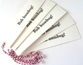 Bah humbug letterpress gift tags pack 5